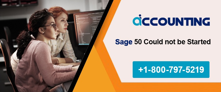 Sage 50 Could not be Started